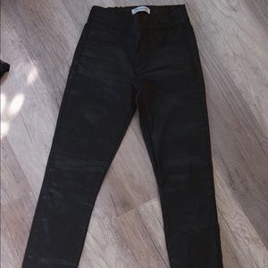 Madewell faux leather pants